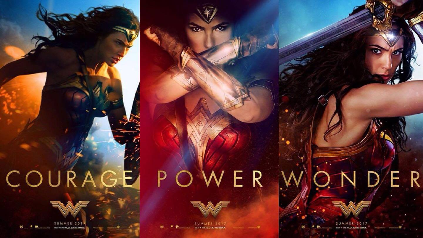 Wonder Woman Triptych Poster 2017