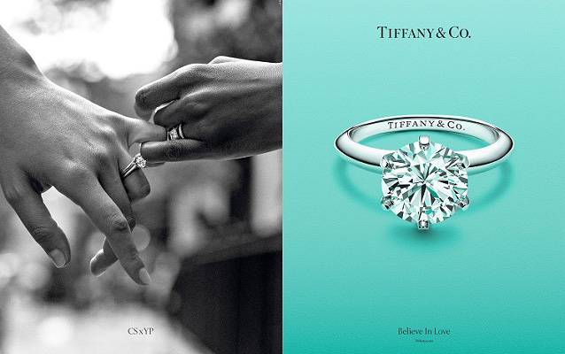 Tiffany & Co diamond ring advertisement